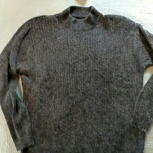 Charter Club gray sweater mock neck size L